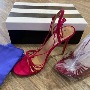 Aquazurra size 39.5 Pink Whisper Sandal
